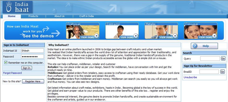 India Haat - E-commerce Web Application