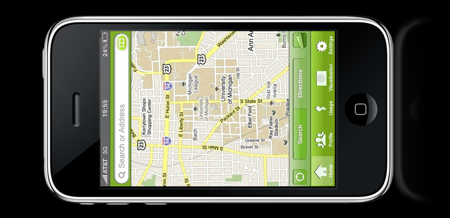 Footprints: iPhone app for eco-friendly